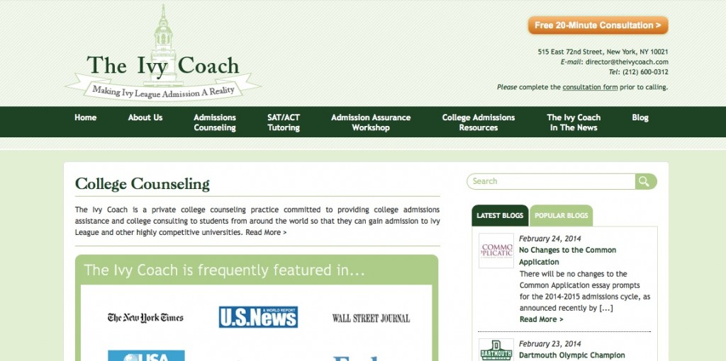 Ivy Coach Fourth Website